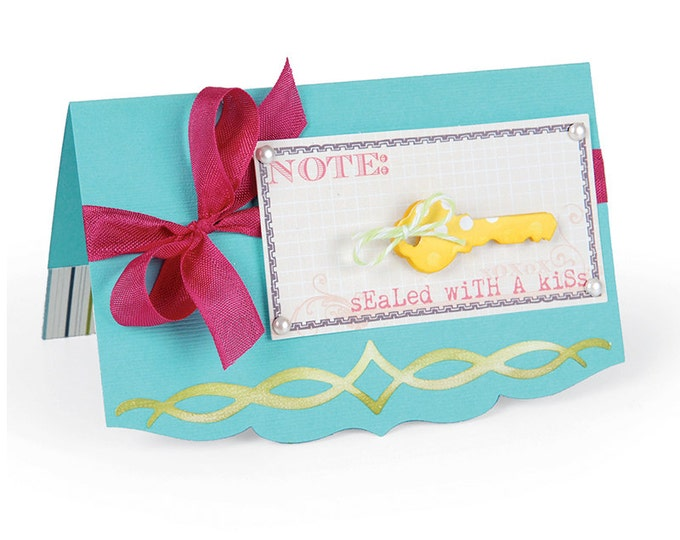 Sizzix Thinlits Die Set 2PK - Card, Elegant Edge 658829
