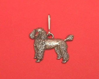 Poodle Dog Pewter Motif Zipper Pull Mothers Day Gift