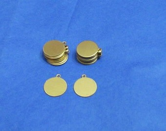 1/2 Round Tags - Brass tags - round tags - Tumble blanks  - hand stamping blanks - brass blanks