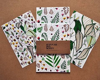 Summer Garden; set of 6 postcards
