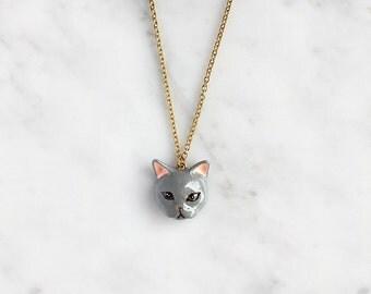 Plum Cat Necklace
