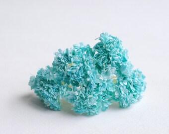 Paper Flower, 100 pieces baby breath, Blue-sky color.