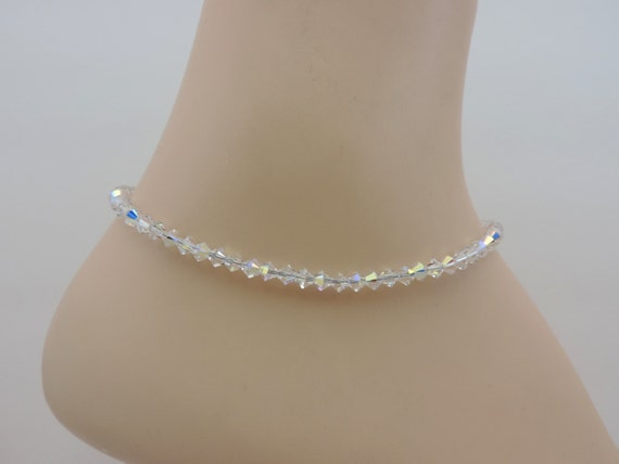 Ankle Bracelet Swarovski Crystal Ankle Bracelet Aurora