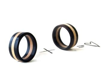 Wooden Rings Set, Wooden Wedding Ring, Wood Wedding Ring, Natural Wedding Bands, Ebony Rings, Natural Rings, Wooden Jewelry, Natural Jewelry