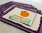 Sweet Fruit cards (Blank, set of 5, with envelopes)