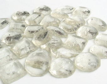 Clear Edible Jewels - Hard Candy Gems Diamonds - 120 Candy Pack - Cake Decorations, Wedding Favors, Party Favors