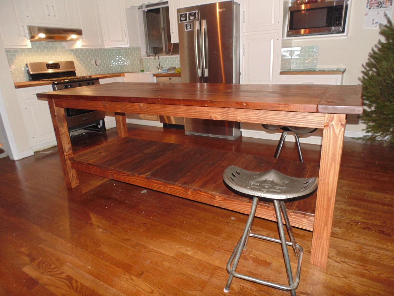 appealing reclaimed wood kitchen island | Reclaimed Wood Farmhouse Kitchen Island