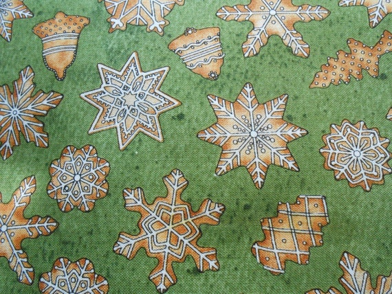 Sale christmas cookies fabric sold by the yard by fabricfaire for Cloth for sale by the yard