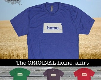 Kansas Home. shirt- Men's/Unisex SOFT red green blue purple