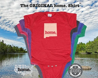 New Mexico home Baby Bodysuit purple green pink green