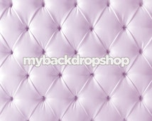 5ft x 5ft Upholstered Lavender Tufted Fabric Photography Backdrop – Light Purple Headboard Bed Fabric - Exclusive Design - Item 2102