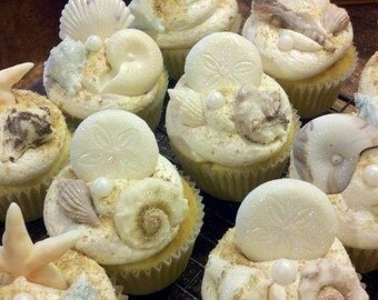 Sea Shell Fondant cupcake toppers