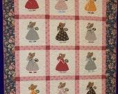 Sunbonnet Sue - Strawbonnet Sue Quilt Pattern