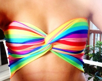 Rainbow Twist Bandeau