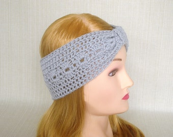 Crochet Turban headband Crochet headband ear warmer Womens headband Crochet head band Winter headband Wool hand crochet earwarmer head wrap