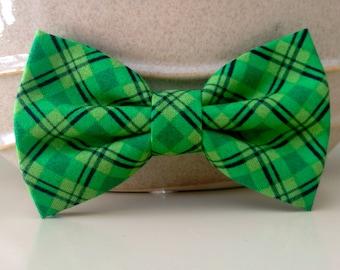Dog Bow Tie- Green Plaid