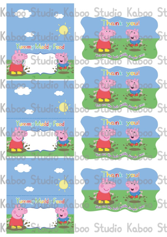 Peppa Pig Party Printables Templates   LZK Gallery