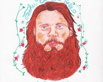 Illustration of Father John Misty