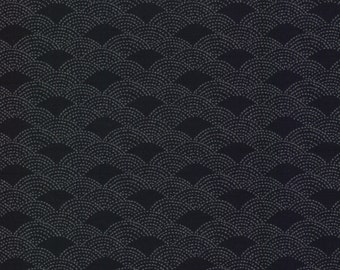 Small Waves Tone on Tone Japanese Indigo Cotton Quilting Fabric by the half yard AP1310-13