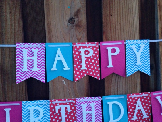 Banner, Birthday Banner, Happy Birthday Banner, Happy Birthday Girl Banner 1st Birthday,Happy First Birthday Banner,