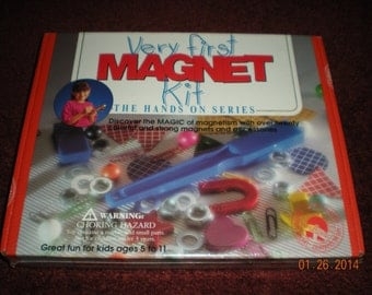 Vintage New Very First Magnet Kit; the Hands On Series; Dowling Magnets 1993 MK502
