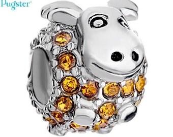 Authentic Pugster goat charm for european style bracelet