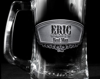 Engraved Best Man Beer Mug, Groomsmen Gifts