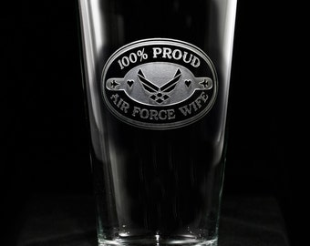 Air Force Wife Beer Glass, Proud Air Force Wife, Military Wives Gifts