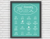 Home Decor Blue Laundry Room Art Print - 8x10 - LucyDarlingPrints