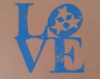 """TN Love 5X7"""" Print"""