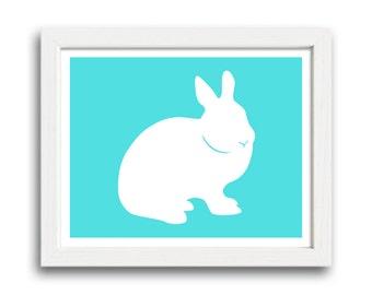 Bunny Print - Rabbit Silhouette