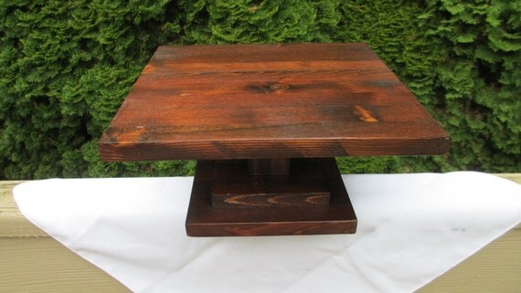 ... Contemporary Wood Cake/ Cupcake/ Cheese/Display Stand Wedding Platform