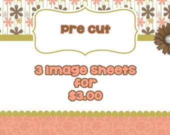 PRE CUT Bottle Cap Images- Pick 3