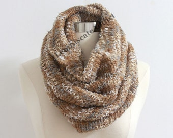 50% OFF Light Khaki Ombre Knit Scarf Ultra Soft Knit Infinity Scarf Infinity Scarf Soft Knit Scarf Winter Scarf Christmas Gift Cozy Loop