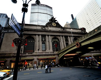 Grand Central Station at Christmas New York City. New York Photography. City Photography. Train Station