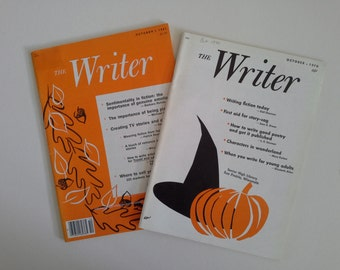 Vintage Magazines, The Writer, 2 October Editions.