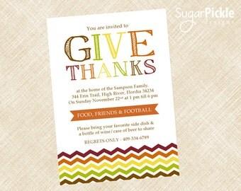 Thanksgiving Dinner Invitation, Thanksgiving Invitation, Thanksgiving Invites, Dinner Party Invitation, Thanksgiving party