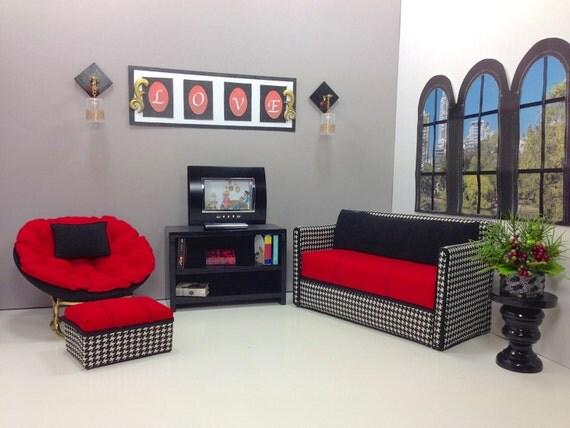 Barbie doll furniture doll sofa papasan chair ottoman book for Papasan sofa