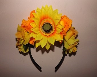 Sunny Side Up, Up And Away Flower Crown