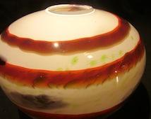 Vintage studio Art Glass vase signed / handblown glass vase / Swedish studio art glass vase / Swedish hand blown vase /Vintage decor gift