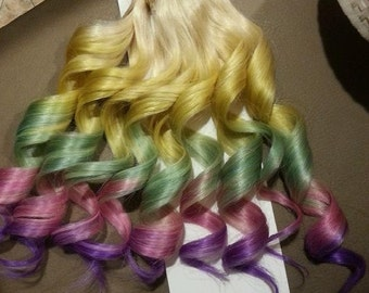 "22"" 100% Human Pastel Hair Extensions 7Pcs Clip in Lauren Conrad inspired"