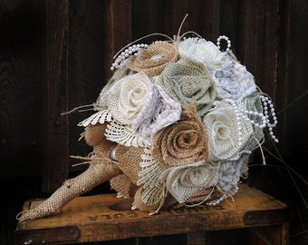 Burlap Bouquet, Wedding Bouquet, Sage Burlap, Wedding Burlap Bouquet, Burlap, Lace Bouquet, Rustic Burlap Bouquet, Burlap, Wedding, Bride