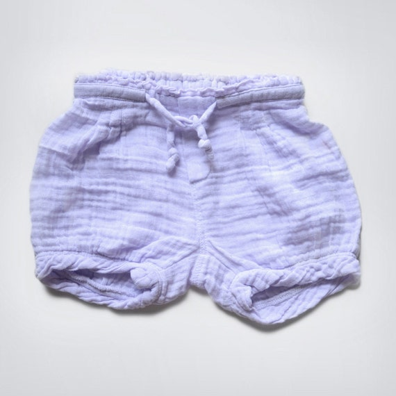 Muslin cotton Purple Shorts