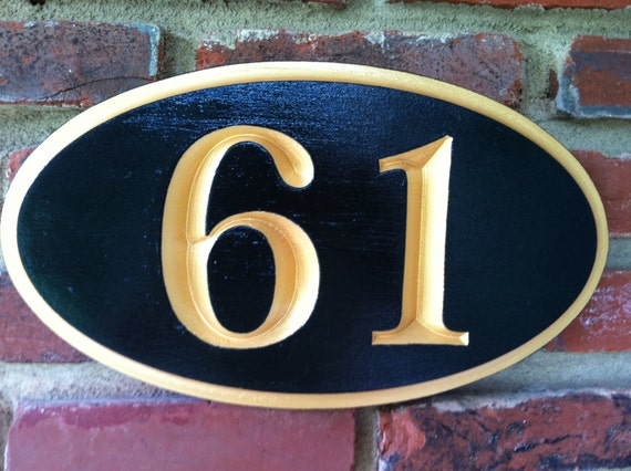 custom carved house number street address sign house. Black Bedroom Furniture Sets. Home Design Ideas