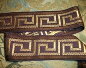 """Samuel & Sons Greek Key """"Amabile"""" Woven Braid Trim-Millinery Upholstery, Lampshades - 2  3/8""""  wide - Total of  2 + 1/3 yards"""