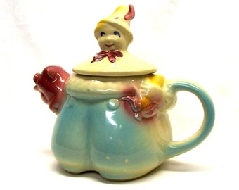 Shawnee Pottery Tom the Piper's Son Figural Tea Pot