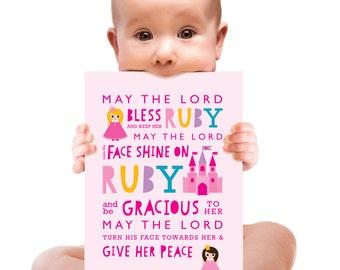 Bible verse greeting card. You are a princess (Bible verse)