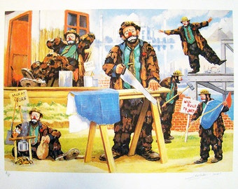 """Barry Leighton-Jones """"Men At Work"""" - S/N Lithograph - Retail 650.00 - COA - See Live at GallArt - Buy/Sell/Trade"""