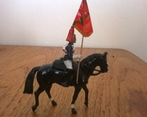 Model Soldier - Blues & Royals Household Cavalryman with regimental colours.