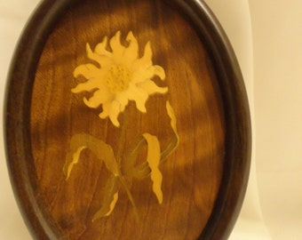 Inlaid Wood Picture ~ FREE Domestic Shipping